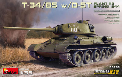 T-34/85 w D-5T, Plant 112 spring 1944 - 1