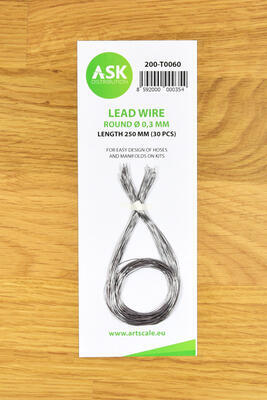 Lead Wire - Round O 0,3 mm x 250 mm (30 pcs)