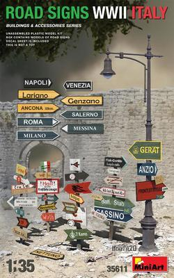 ROAD SIGNS WWII ITALY - 1