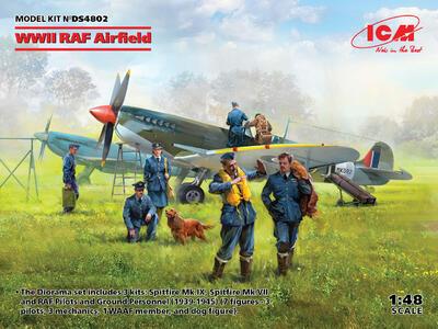 RAF WWII Airfield (2x kits & 7 figures)