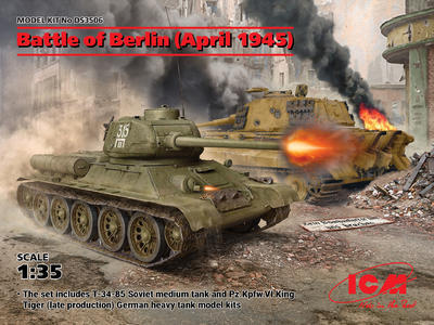 Battle of Berlin (April 1945) (T-34-85, King Tiger)