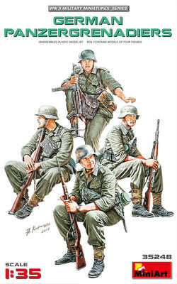 German Panzergrenadiers, 4 fig.  - 1