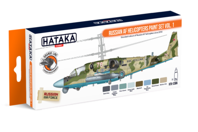 Russian AF Helicopters  Paint Set Vol.1, set barev - 1