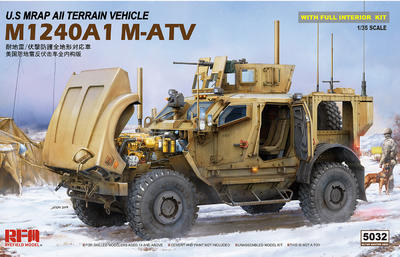 M1240A1 M-ATV U.S. MRAP All Terrain Vehicle, full interior kit - 1