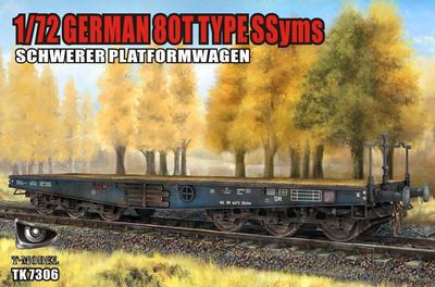 German 80t Type SSyms Schwere Platformwagen