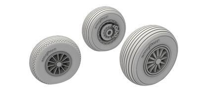 A-26 Invader Wheels Late Type ,  resin