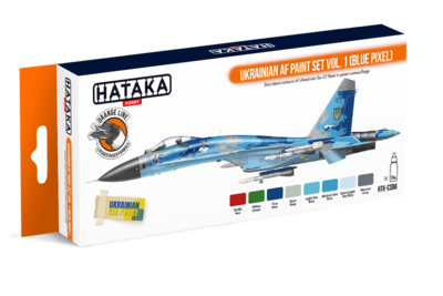 Ukrainian AF Paint set Vol.1 (Blue Pixel), sada barev - 1