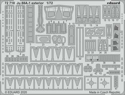 Ju 88A-1 exteriér 1/72  lept