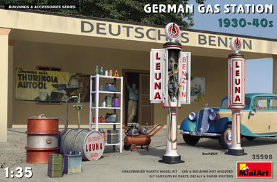 German Gas Station 1930-40s - 1
