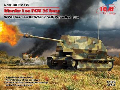 Marder I on FCM 36 base, WWII German Anti-Tank Self-Propelled Gun   - 1