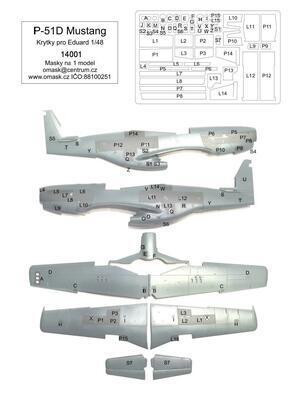 1/48 P-51D masky na krytky (pro Eduard)