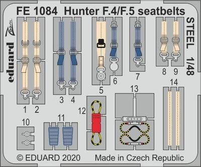 Hunter F.4/ F.5 upínací pásy OCEL 1/48 lept