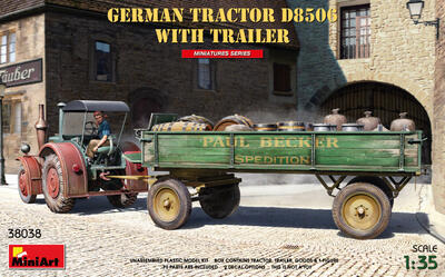 GERMAN TRACTOR D8506 WITH TRAILER - 1