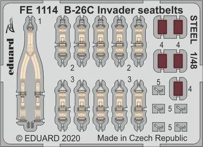 B-26C Invader upínací pásy OCEL 1/48   lept