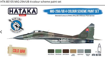 MiG-29A/UB 4-colour scheme paint set, set barev - 1