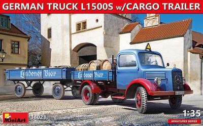 GERMAN TRUCK L1500S w/CARGO TRAILER - 1