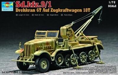 Sd.Kfz.9/1 Drehkran 6T Auf Zugrkraftwagen 18T