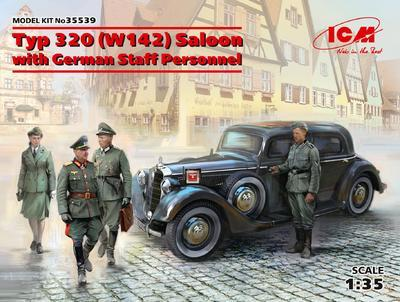 Typ 320 (W142) Saloon with  German Staff Personnel