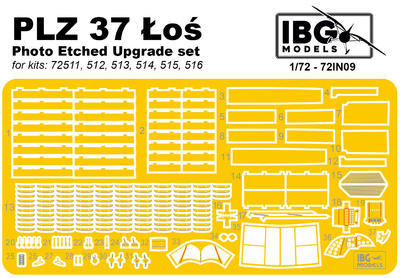 PZL.37 Los - upgrade PE set - lept 1:72 - 1