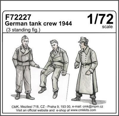 German panzer crew sitting (3 fig.) , resin