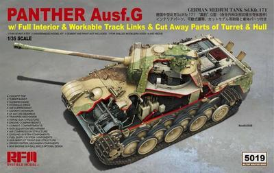 Panther Ausf. G w/Full interior & Workable Track Links & Cut Away Parts of Turret & Hull - 1