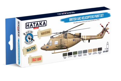 British AAC Helicopters Paint Set, sada barev - 1