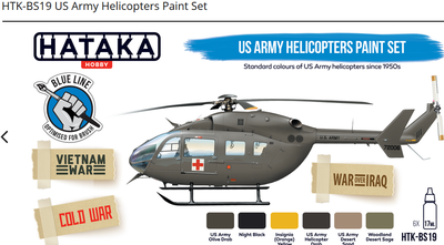 US Army Helicopters Paint Set, sada barev - 1