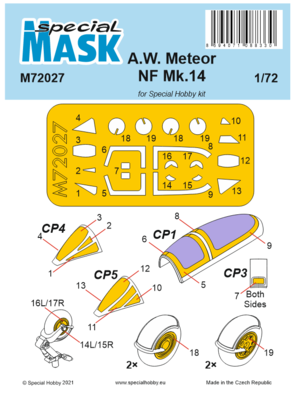 A.W. Meteor NF Mk.14 Mask
