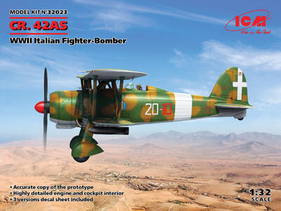 Fiat CR 42AS Falco Iatlian WWII Fighter -Bomber - 1