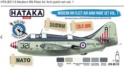 Modern RN Fleet Air Arm paint set vol. 1, set barev - 1
