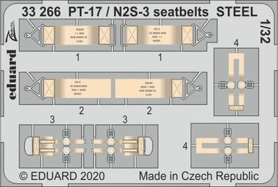 PT-17 / N2S-3 upínací pásy OCEL 1/32   lept