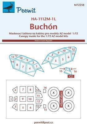 1/72 Canopy mask HA-1112M-1L Buchón (AZ)