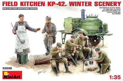 Field Kitchen KP-24. Winter Scenery
