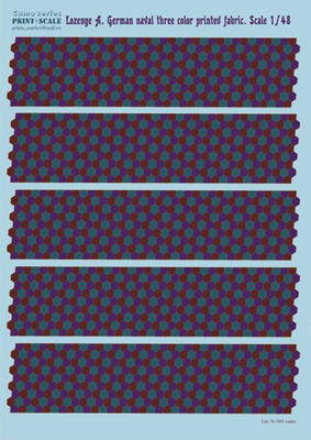 Lozenge A. German naval three color printed fabric