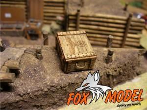 Dřevěná bedna se znakem Box010 1:35 2 ks
