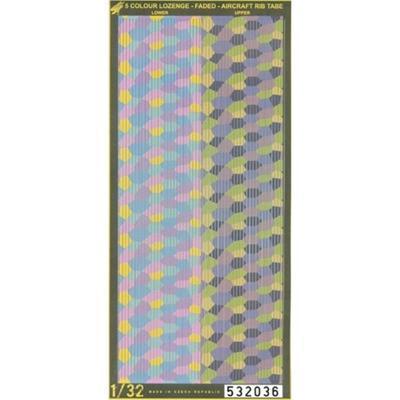 Aircraft Rib Tape 5 colour LOZENGE - 1