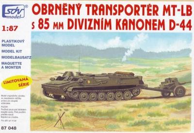 Obrněný transporter MT-LB s 85mm divizním kanonem D-44