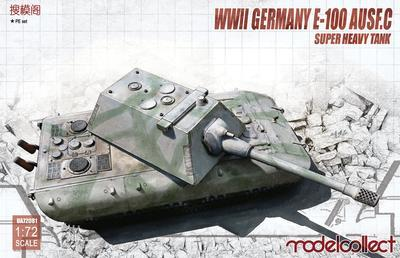 WWII German E-100 Super Heavy Tank With Krupp Turret