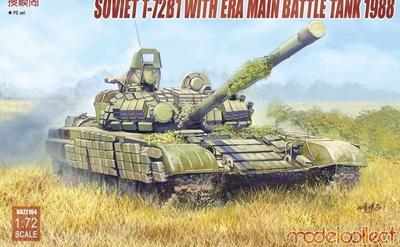 Soviet T-72B1 With Era Main Battle Tank 1988