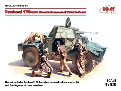 Panhard 178 with French Armoured vehicle Crew
