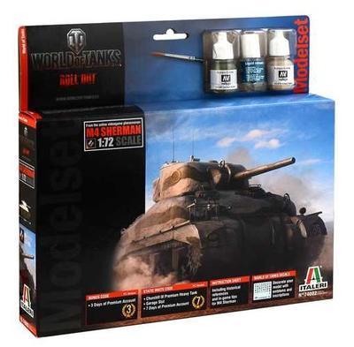 M4 Sherman - World Of Tanks, kit s barvami, lepidlem a štětcem.