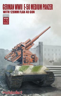 German WWII E-50 medium Panzer With 128mm Flak 40 Gun