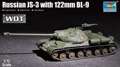 Russian JS-3 with 122mm BL-9 +podložka modelu. WOT.   - 1