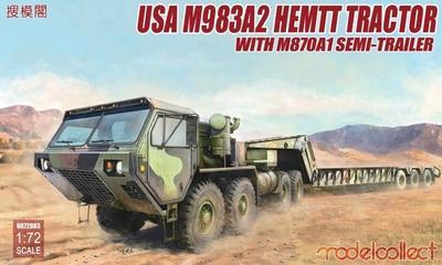USA M983A2 HEMTT Tractor With M870A1 Semi Trailer
