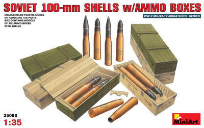 Soviet 100mm Shels w/Ammo Boxes