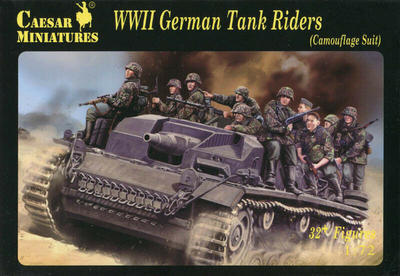 WWII German Tank Riders, 32+ Figures  - 1