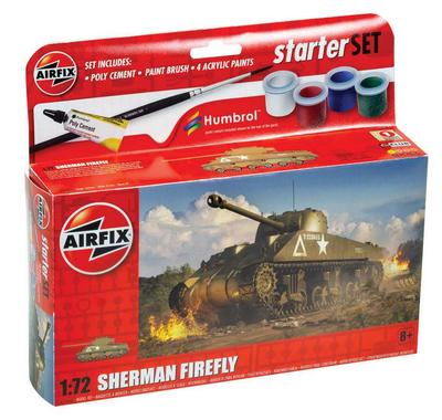 Sherman Firefly, starter set, lepidlo, barvy..