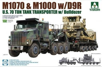 M1070 & M1000 w/D9R U.S. 70 Ton Tank Transporter w/ Bulldozer
