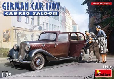German Car 170 V Cabrio Saloon with 2 Figures - 1