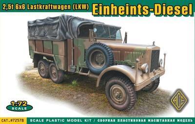 Einheints-Diesel 2,5t 6x6 Lastkraftwagen (LKW)